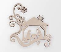 Wooden Shape Christmas Nativity Scene, Wooden Cut Out, Wall Art, Home Decor