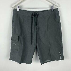 Rip-Curl-Mens-Board-Shorts-32-Grey-Drawstring-Swim-Aussie-Summer