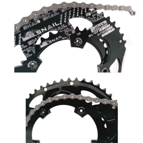 SNAIL 110BCD Road Bike 50T//35T Double Oval Chainring Chainwheel fit SHIMANO SRAM
