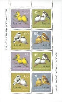 Europa 1995; Nr Kat.:3419-3422 Gewidmet Polen 1995 Klb Nestlings Of Singing Birds
