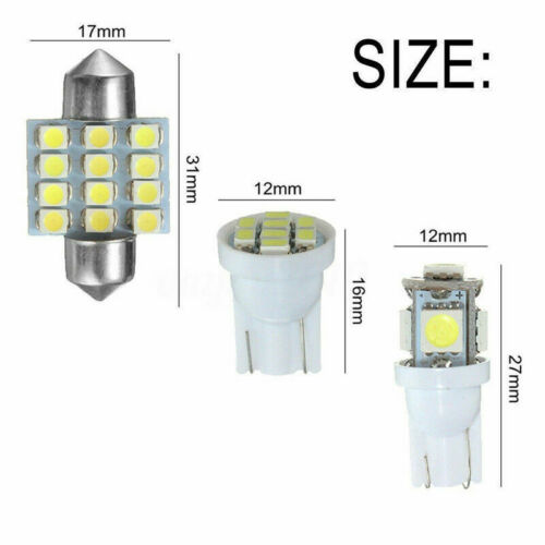 For 2006-2014 Ford Explorer White LED Bulbs Interior Lights Package Kit 13PCS