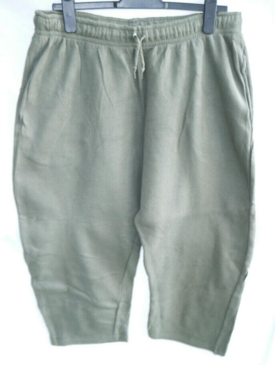 Cs Active Casual Joggers Green Cotton Elastic Tie Waist Pants Size XXL, Free P&P