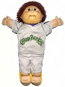Vtg-Cabbage-Patch-Kids-Boy-1985-Coleco-Red-Fuzzies-16-5-034-Head-Mold-2-Outfit