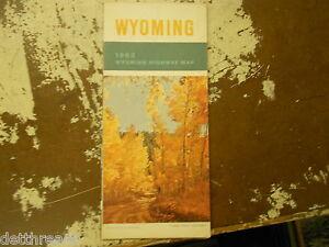 VINTAGE MAP Wyoming Highway Map EBay - Wyoming highway map