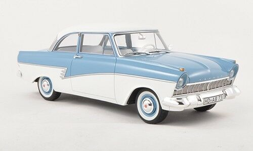 1957 Ford Taunus 17M P2 Light bluee White by BoS Models LE of 1000 1 18 Scale New