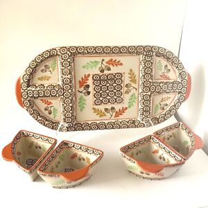 Temp-tations by Tara Old World Harvest Acorn Chip and Dip Charcuterie Tray Set