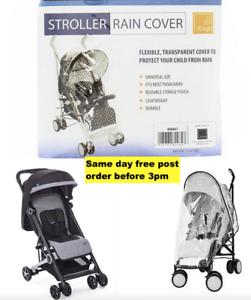 Universal-Transparent-Pushchair-Stroller-Rain-Cover-with-Black-Trim-Heavy-Duty