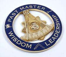 "Mason Past Master Wisdom Leadership 3"" auto emblem Metal car decal MAS26"