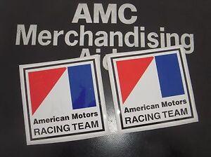 2 AMC Racing decals emblem AMX Javelin Jeep Hornet Spirit Gremlin Rebel BARGAIN