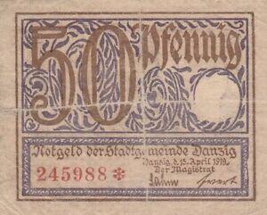 50-Pfennig-1919-Besetzte-Deutsche-Gebiete-Danzig-Ro-790