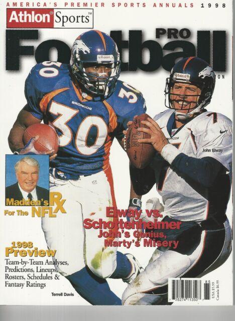 Athlon Sports Pro Football 1998 Annual Volume 17