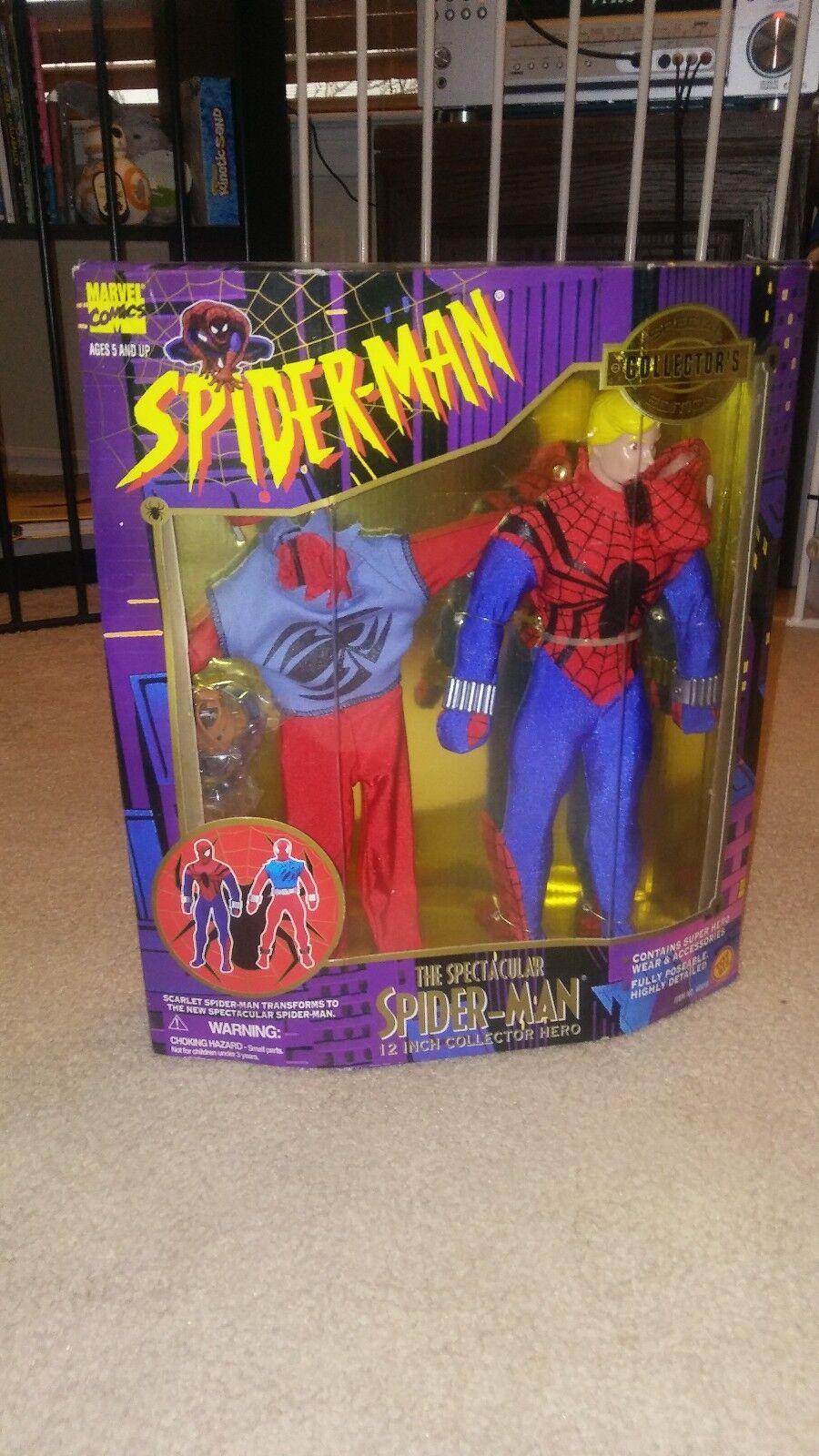 Toy Biz 1996 Spectacular Spiderman Crimson Spider12