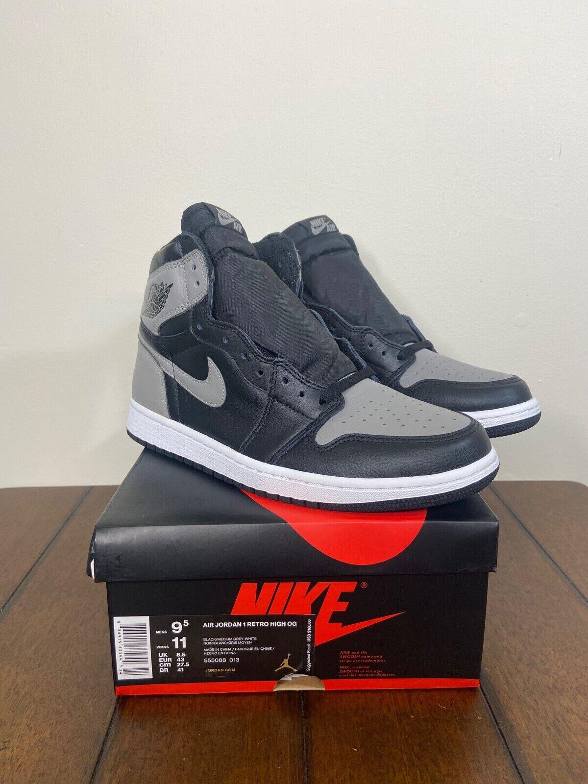 Size 9.5 - Jordan 1 Retro High OG Shadow 2018 for sale online   eBay