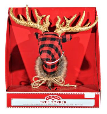 deer cake topper deer topper buffalo plaid topper woodland topper Buffalo Plaid Deer Cake Topper buffalo check topper rustic topper