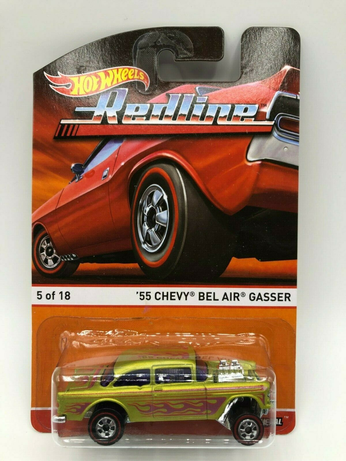 Hot Wheels rojoline 55 Chevy Bel Air Gasser gvhtf Nibp