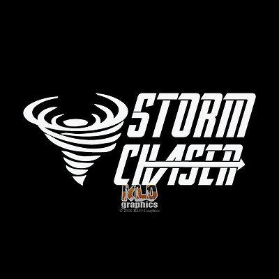 Storm Chaser Decal Window Bumper Sticker Car Tornado Weather Train Spotter EF