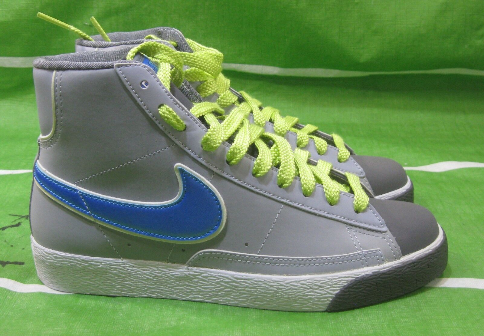 Nike Womens Blazer Mid Suede Vintage Grey bluee Trainers 317808 010 Size 7.5