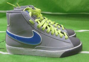 new arrival 145e1 9a539 Image is loading Nike-Womens-Blazer-Mid-Suede-Vintage-Grey-Blue-