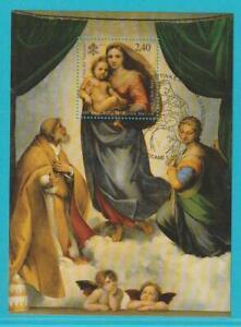Vatikan-aus-2012-gestempelt-Block-37-Sixtinische-Madonna-mit-Ersttagsstempel
