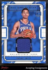 reputable site aeead 9cbd4 Details about 2018-19 Cornerstones Building Blocks Zhaire Smith Jersey  Relic Rookie RC SIXERS