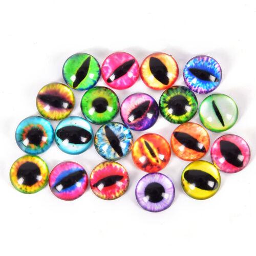 20Pcs Glass Doll Eye Making DIY Crafts For Toy Dinosaur Animal Eyes AccessoBLUN