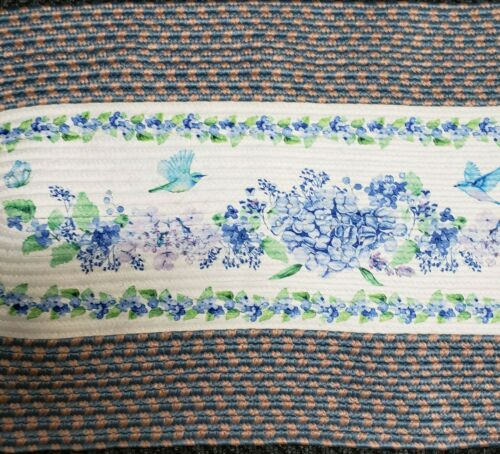 """BIRDS /& FLOWERS 20/"""" x 48/"""" Extra Large Oval Braided Kitchen Runner Rug"""