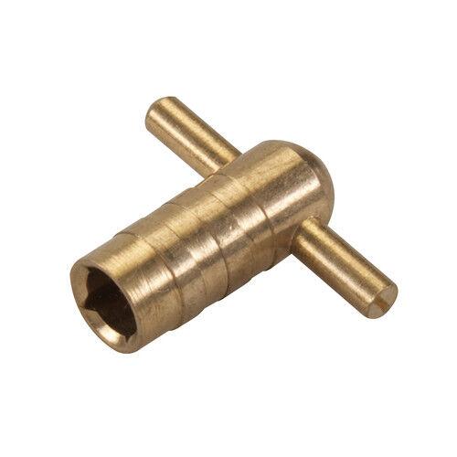 Clé de purge pour radiateur laiton massif clé de 5 mm