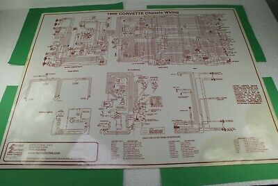 1966 CORVETTE CHASSIS WIRING DIAGRAM LAMINATED LECTRIC ...