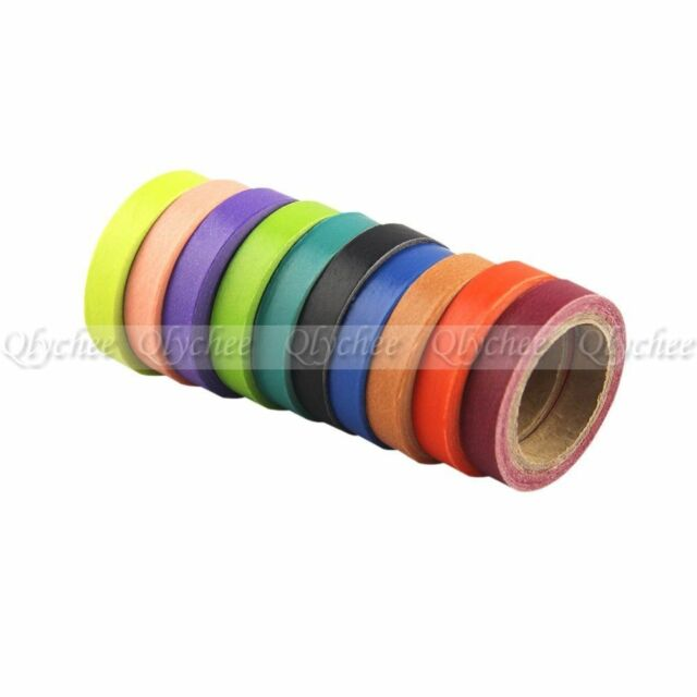 10 Roll Washi Tape Rainbow Candy Scrapbook Decorative Paper Adhesive Sticker DIY