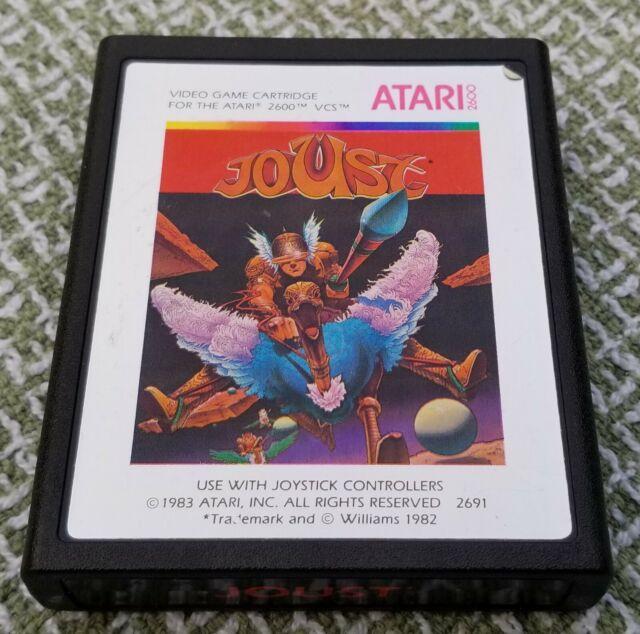 Atari 2600 game cartridge, Joust (Atari, 1983). Great shape.