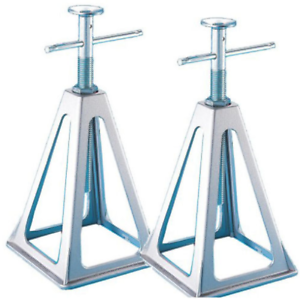 Image is loading Trailer-Jack-Stand-Pair-Set-Rv-Stands-Travel- Trailer Jack Stand Pair Set Rv Stands Travel Heavy Duty Adjustable