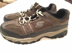 8b5fec604382 Skechers Men s After Burn-Memory Fit Lace Sport Shoes Brown Taupe ...