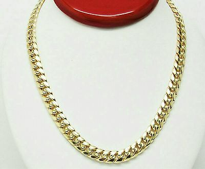 """New 10K Yellow Gold Hollow Miami Cuban Link Chain Necklace 28"""" Inches 6.00mm"""