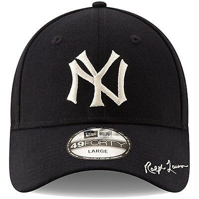 ae1580e453536e Details about Men's New York Yankees New Era Navy Polo Ralph Lauren 49FORTY  Fitted Hat Cap LTD