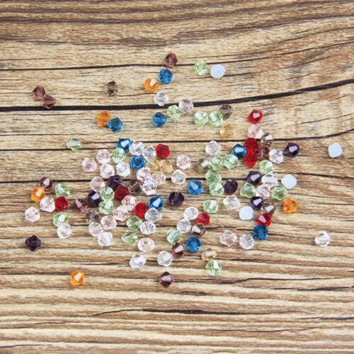100 Stück 6mm Bunt Glasslperlen Kristall Glasschliffperlen BICONE Perlen 20 V0O6