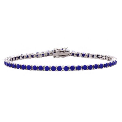 "5.00 CT Superbe Argent sterling 925 7/"" Tennis Bracelet avec bleu Zircons"