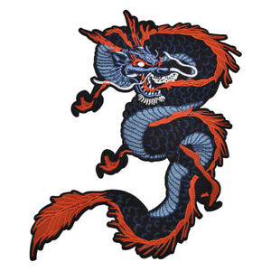 Chinese Dragon Fabric Patch Embroidery Badge Clothes Decor DIY Sew On Craft 1 Pc