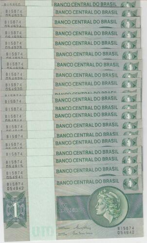191a 1 Cruzeiro ND Lot of 20 Brazil Banknote P UNC  WE COMBINE