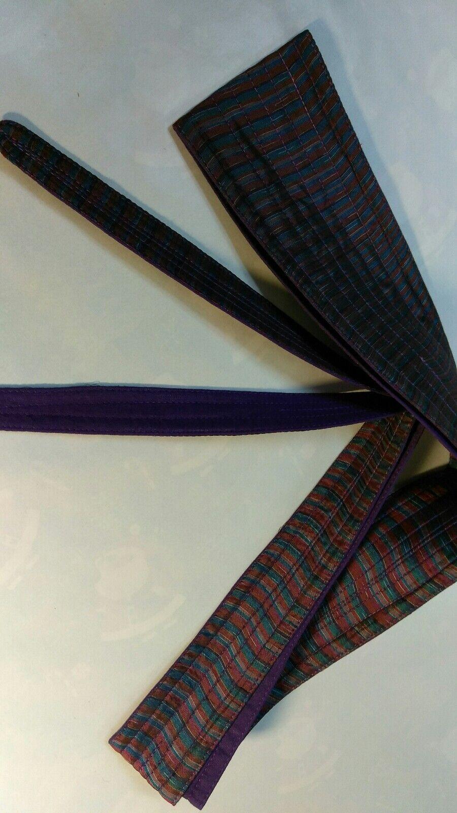 BOHO 70s treasure 100% pure silk / cotton lining sash long belt UNISEX COSPLAY