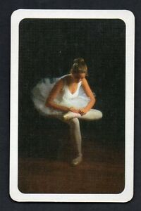 BALLERINA-FIXING-HER-SHOES-Vintage-Playing-Card