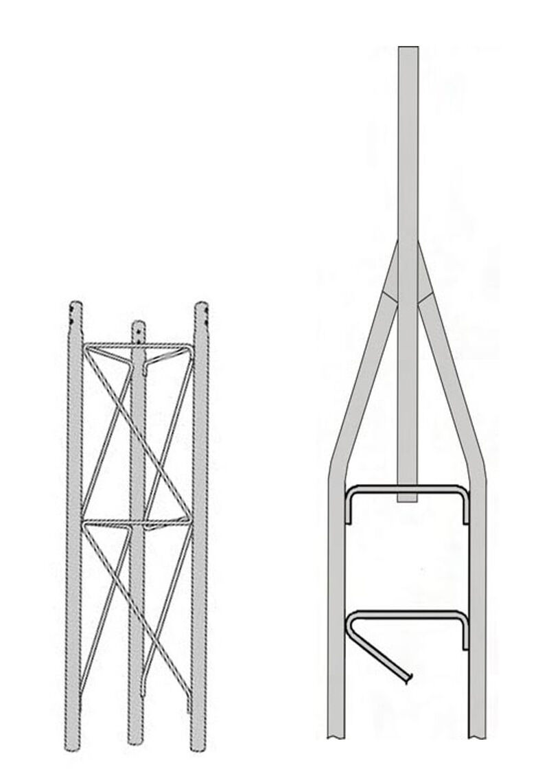ROHN 25SS010 25G Series 10' Self Supporting Tower Kit . Buy it now for 390.00