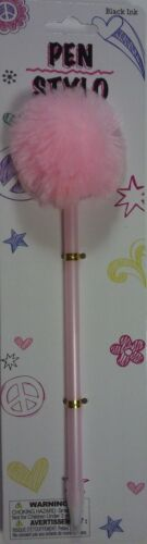 POM POM PENS FLUFFY AFRO Black Ink Wedding Signings SELECT Pink Purple White