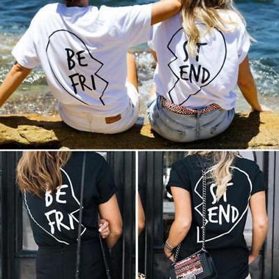 Best Friend T Shirt St End Be Fri Love Matching Shirts Bff Tee Tops Blouse Ebay