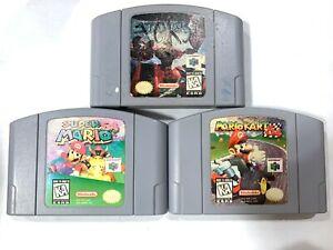 AUTHENTIC! Super Mario 64 Star Fox & Mario Kart Nintendo N64 Games Lot Tested!