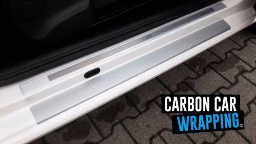 Up TYP AA Einstiegsleisten 3D CARBON SILBER CAR WRAPPING 5 Türer VW Up
