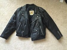 Vintage 1970s Motorcycle Leather Jacket Coat Size 12 harley punk metal womens