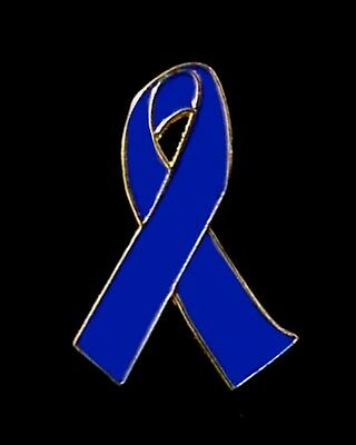 BLUE RIBBON LAPEL PIN FIGHT AGAINST  CHILD ABUSE