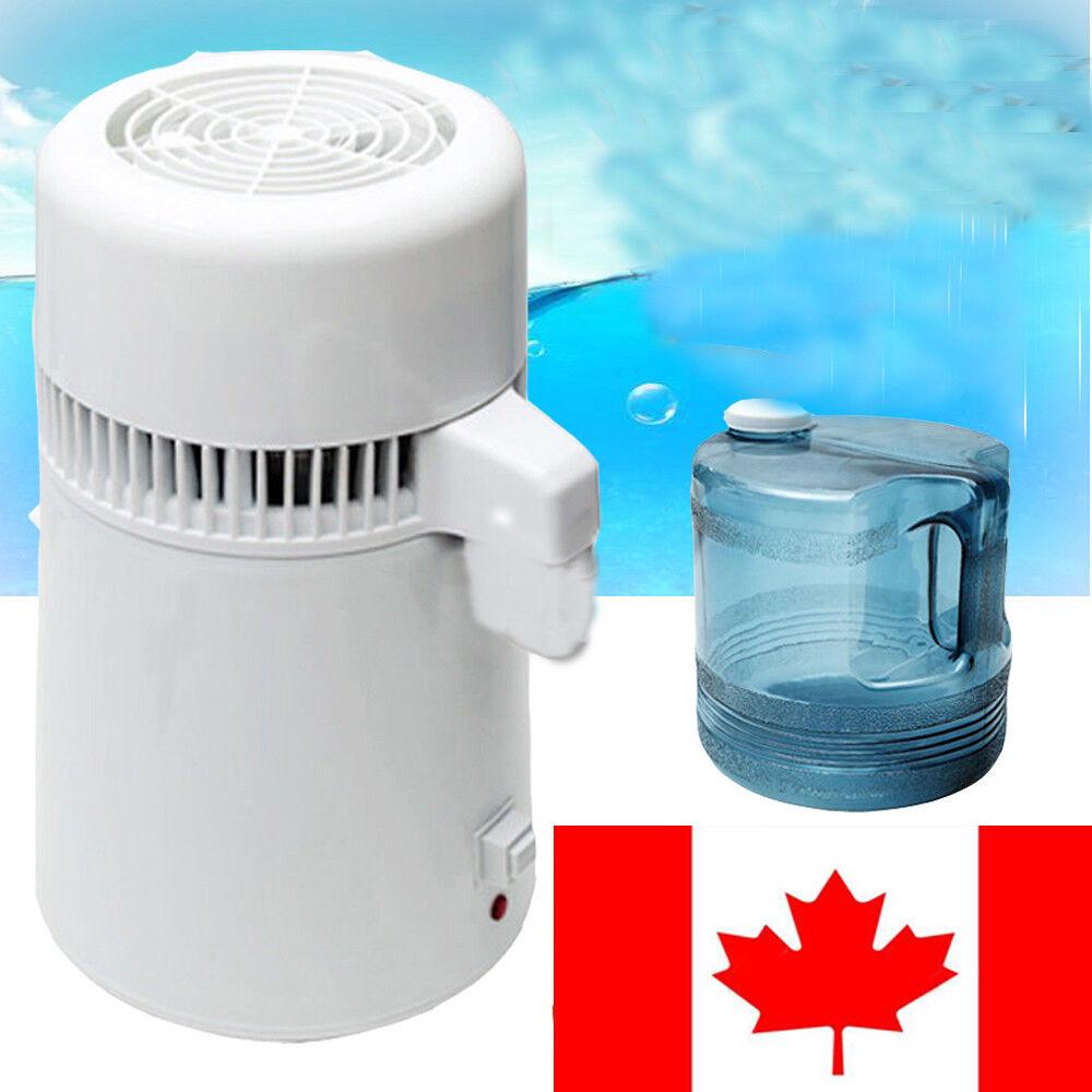 4L 110V 220V Stainless Steel Water Distiller Filter Purifier Boiler for Home Lab