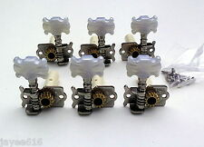 6 Individual Classical Guitar Machine Heads (3RH x 3LH) Pearloid Buttons UK