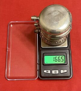 Coin & Sterling Silver Hunting Pocket Watch Cases Repair/Scrap 16s 166/133 Grams